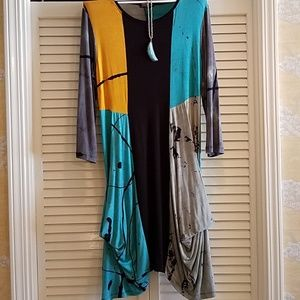 Art of Cloth work of art dress with pockets